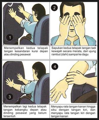 cara wudhu dan tayamum di pesawat